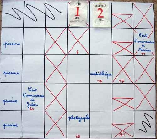 etablir un calendrier de rencontres